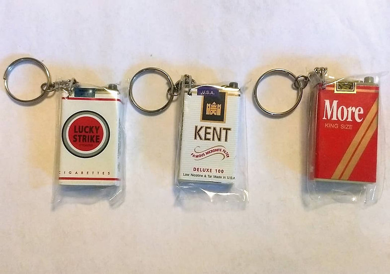 Cigarette Pack Keychain