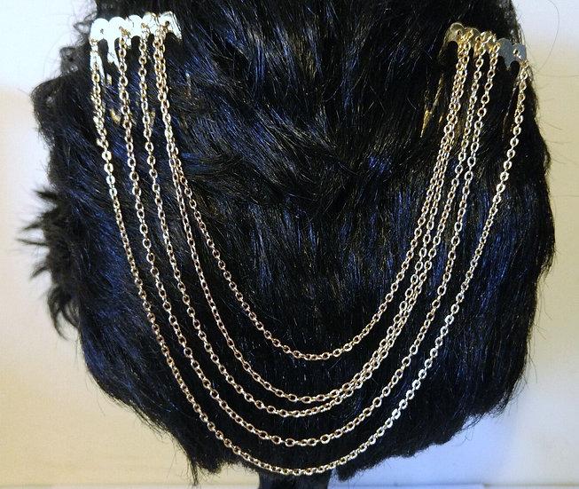 Comb Chain Hair Cuffs