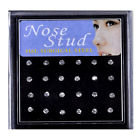 24 pc Clear Nose Ring Studs