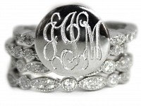 Sterling Silver Engravable Ring Set