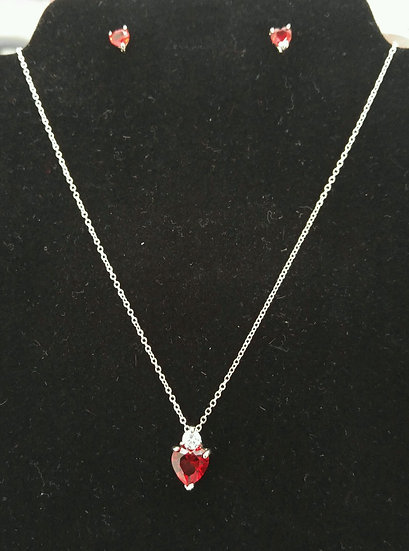 Genuine Sterling Silver Necklace & Earring Set
