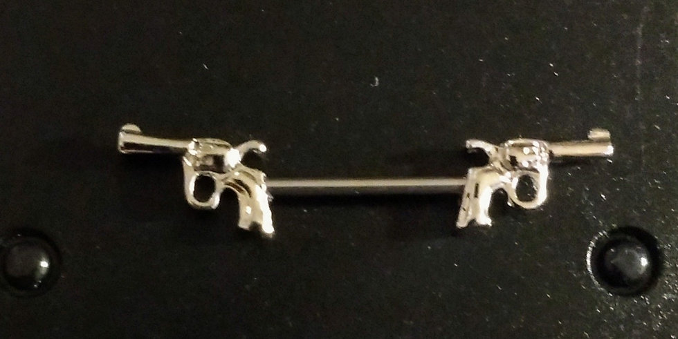 Pistol Nipple Rings