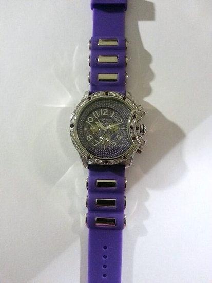 Silver & Purple Watch