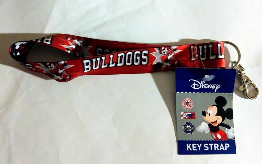 Disney/UGA Lanyard Keychain Strap