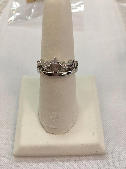 Princess Crown Genuine Sterling Silver Ring