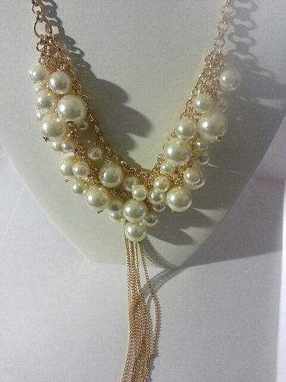 Pearl & Gold 3 Layer Necklace