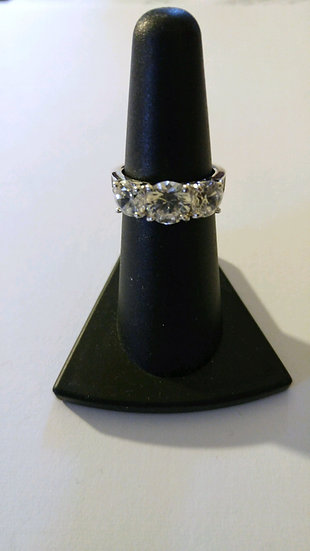CZ Sterling Silver Ring