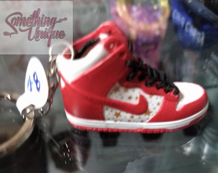 Nike White & Red Shoe Keychain