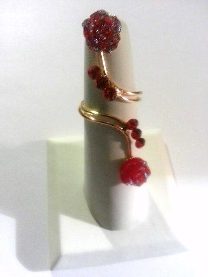 Floral Full Finger Ring