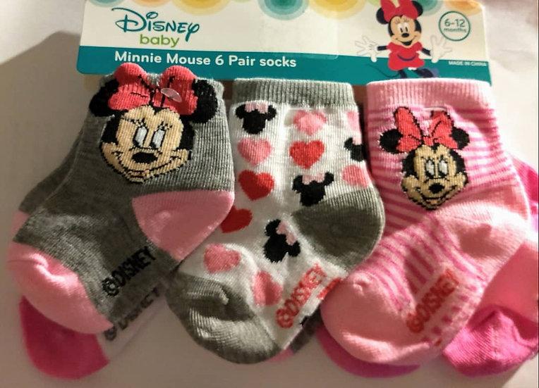 6pc Infant Socks