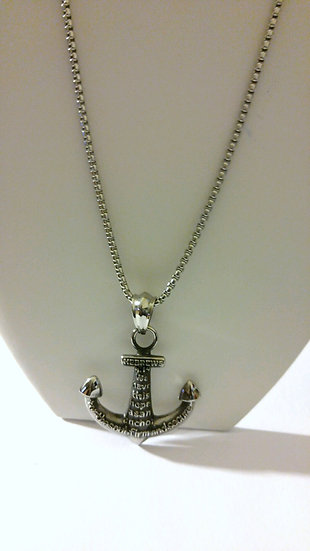 Stainless Steel Anchor Necklace