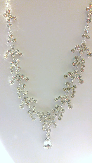 Formal Necklace & Clip Earring Set