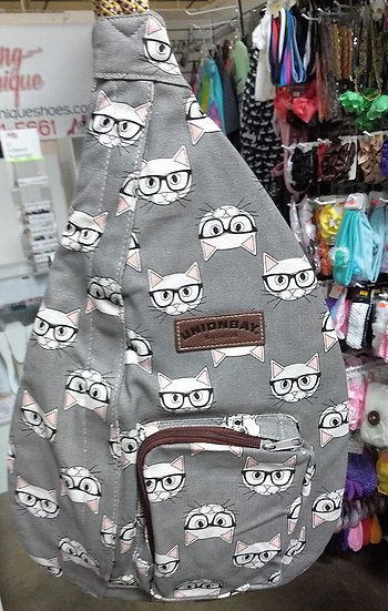 UnionBay Gray Cat Rope Bag