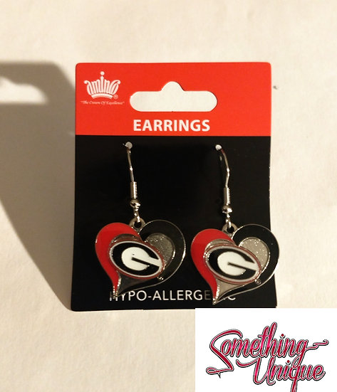 Bulldog Heart Earrings