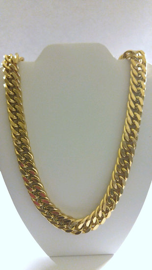 24in Stainless Steel Gold Chain Link Necklace