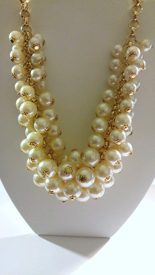 Gold & Pearl Multi-Layered Necklace