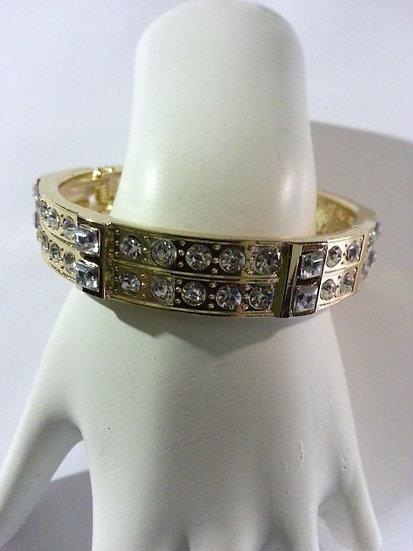 Gold & CZ Cuff Bracelet