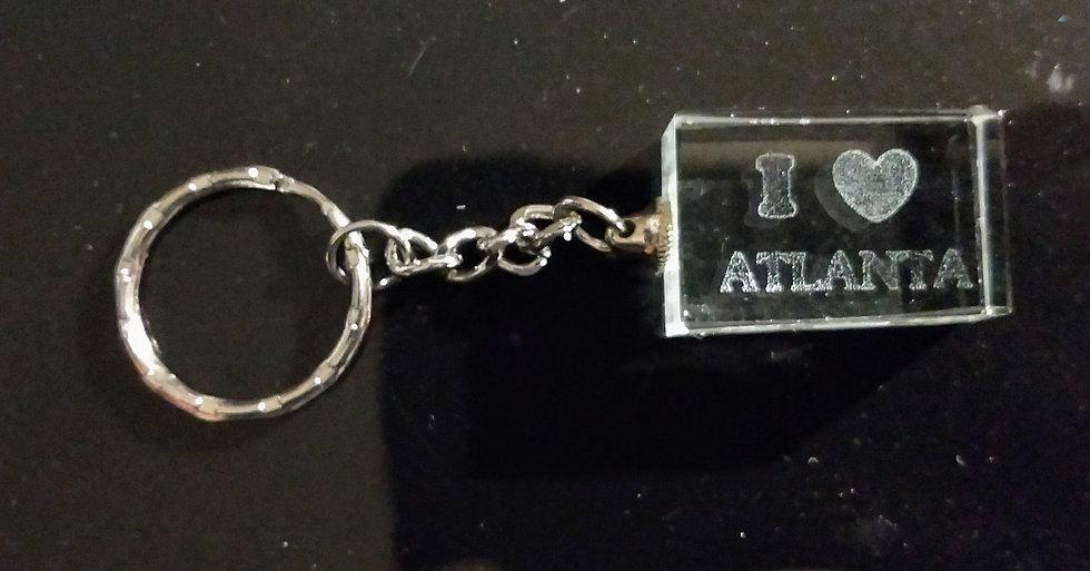 """I Love Atlanta"" Keychain"