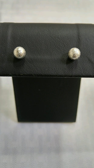 Genuine Sterling Silver Sand Ball Earrings