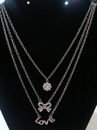 3 Layered Love Necklace