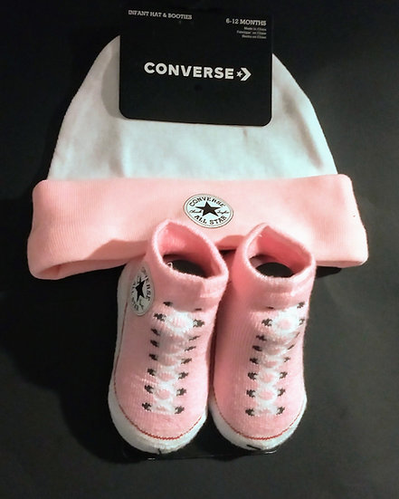 Converse Infant Hat & Booties Set