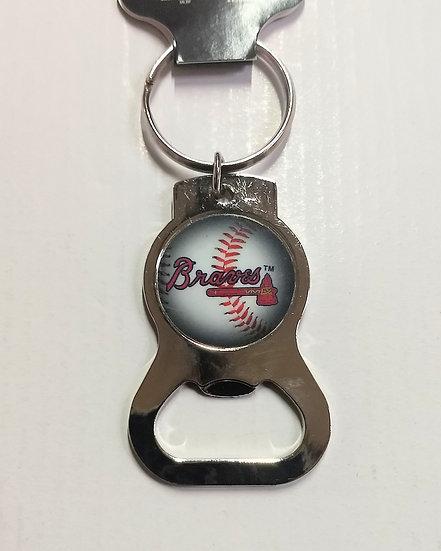 Atlanta Braves Bottle Opener Keychain