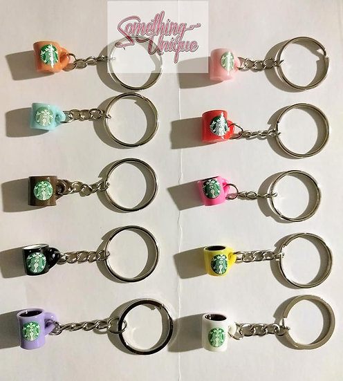 Mini Stackbucks Mug Keychain