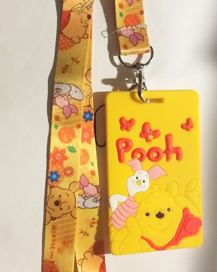 Winnie the Pooh Lanyard with Tag