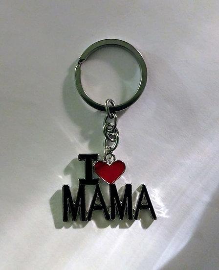 I Love MaMa Keychain