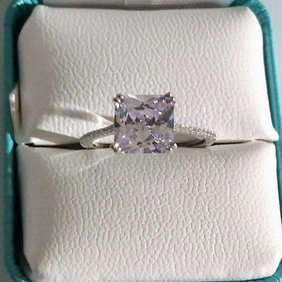 Sterling Silver Ring w/CZ