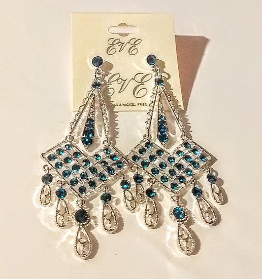 Royal Blue Dangling Earrings