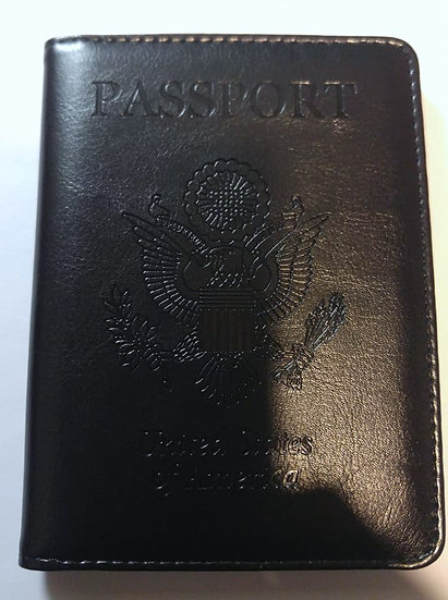 Genuine Leather Black Passport Covers