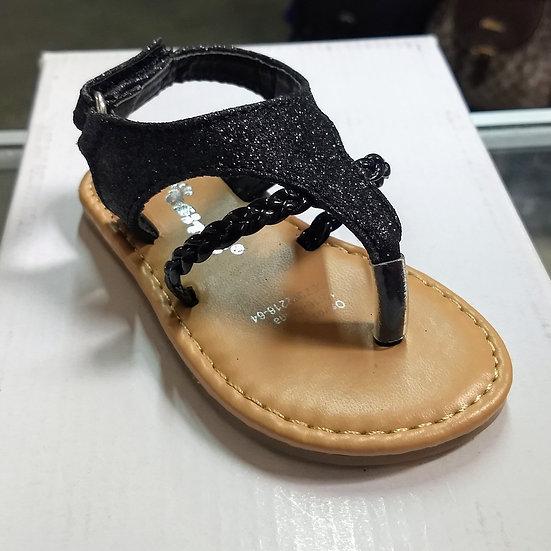 Black Shimmer Sandals