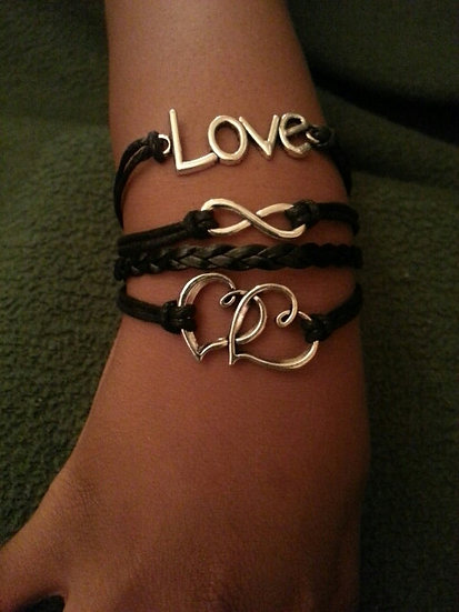 Love Bracelet with Black Band