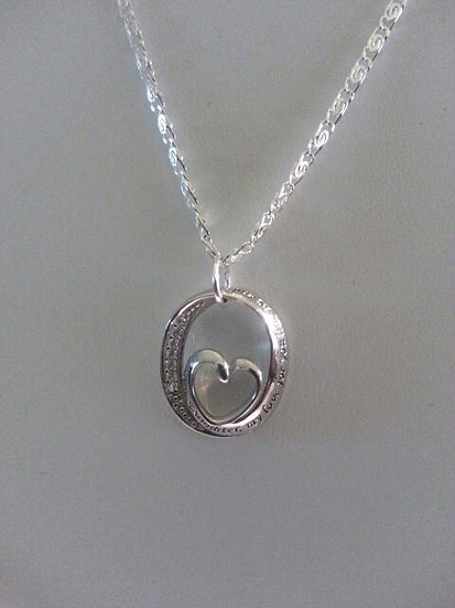 Genuine Sterling Silver Daughter's Love Necklace