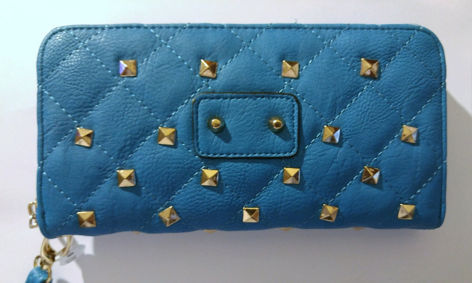 Turquoise Studded Wallet/Clutch