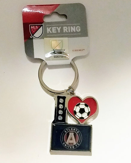 """I Love Atlanta United"" Keychains"
