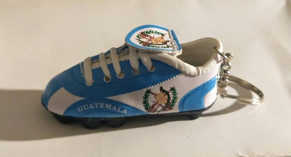 Guatemala Soccer Shoe Keychain