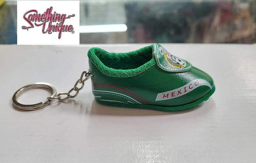 Mexico Soccer Shoe Keychain
