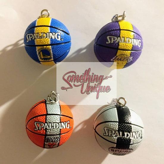 Team Basketball Keychains
