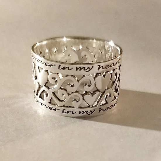 Forever & Always Sterling Silver Ring