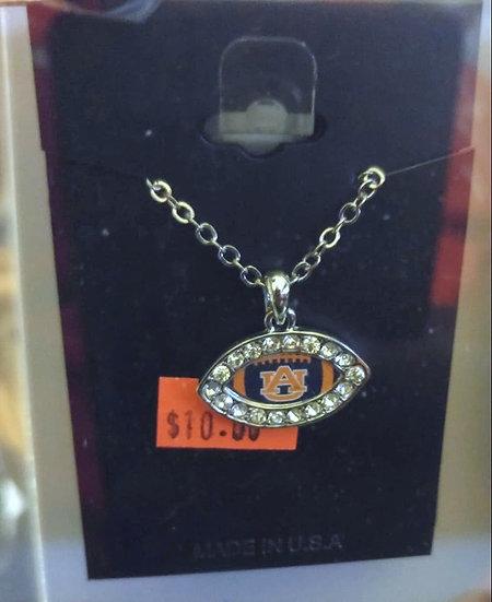 Auburn Football Necklace