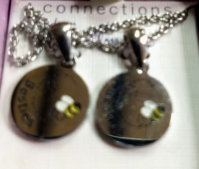 Stainless Steel Best Friends Necklace Set