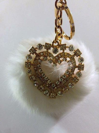 Heart Charm Keychain