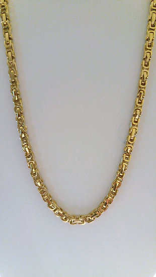 5mm Byzantine Box Link Stainless Steel 22in Chain