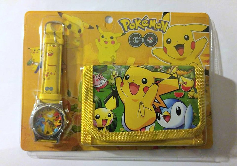 Pokemon Watch & Wallet Set