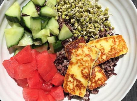 Halloumi Black Rice Salad