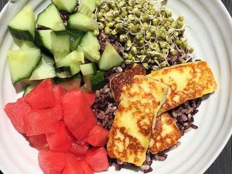 Halloumi Black Rice Salad