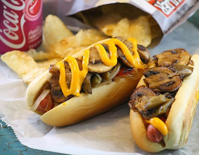 You don't want to miss this weeks YOU LUCKY DOG. It's topped with Sautéed Peppers and Onions with Fr