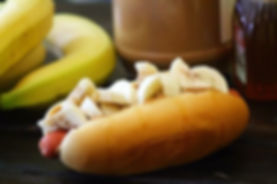 Hot dogs with Peanut Butter and Bananas